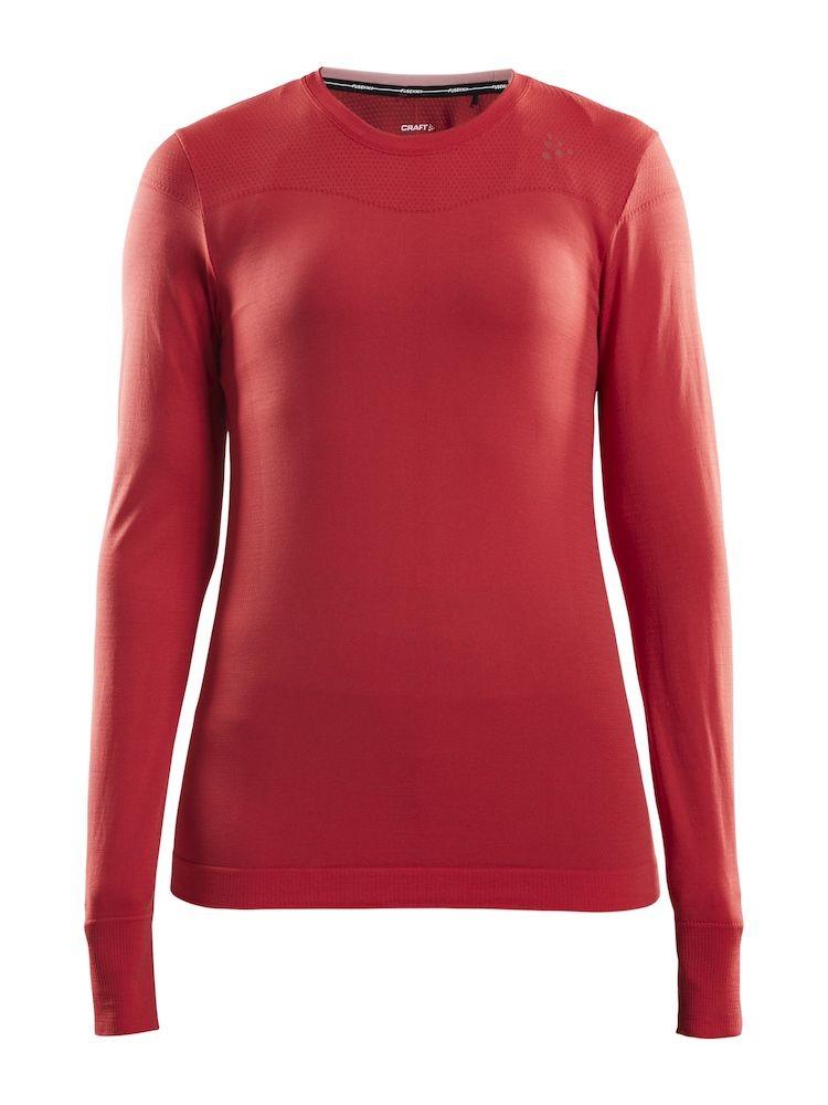 Fuseknit Comfort LS Red Melang Donna 1