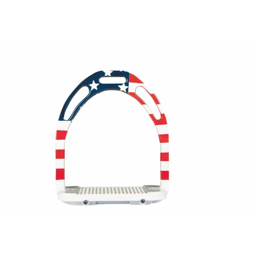 HKM Sport Equipment Steibügel Flag USA