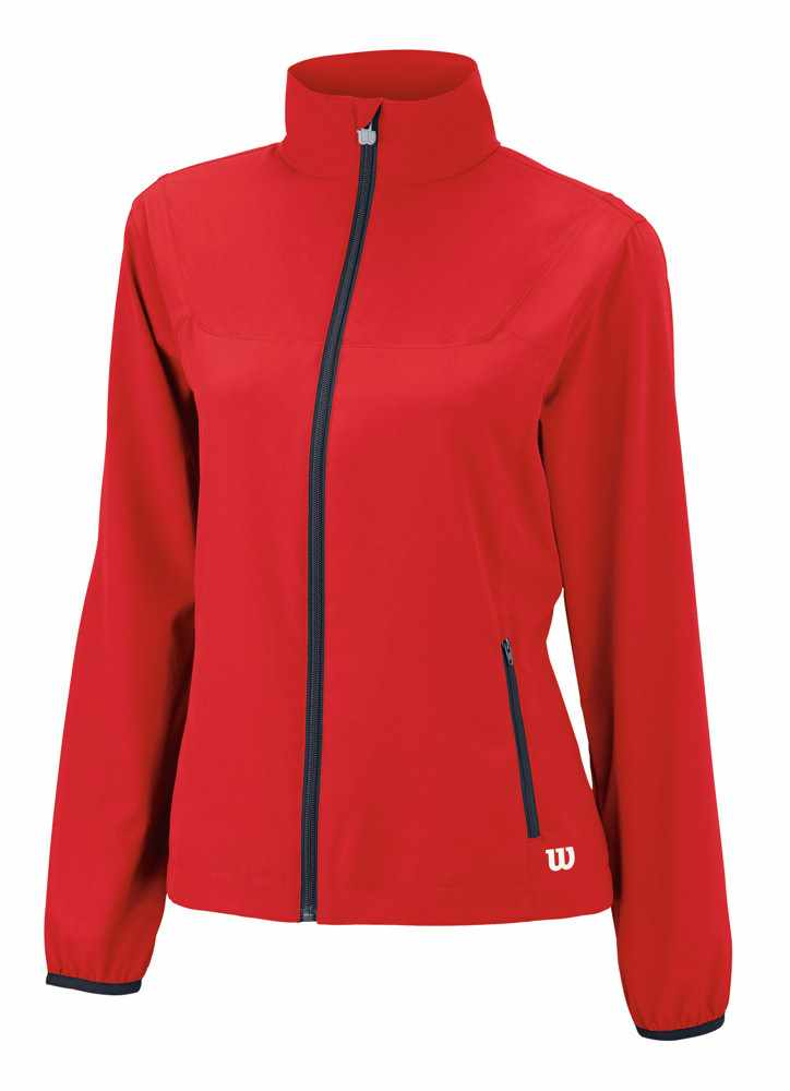 Wilson Team Woven Jacket Rosso Donna
