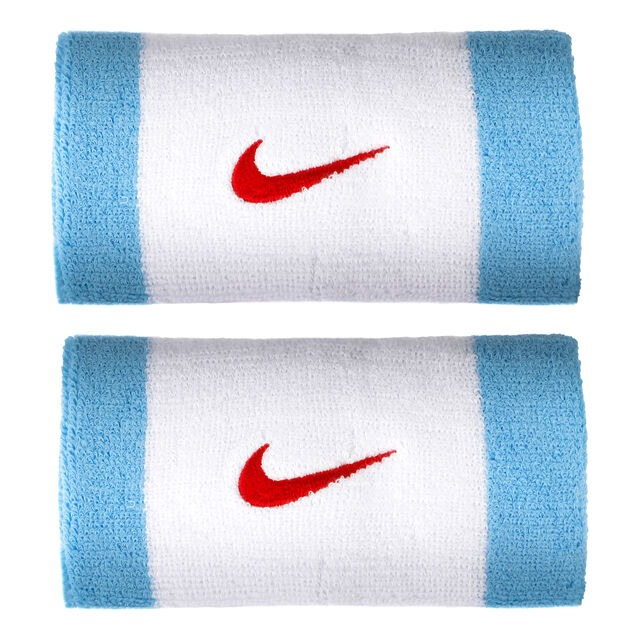 Nike Polsini Jumbo Bianco Azzurro (2x)