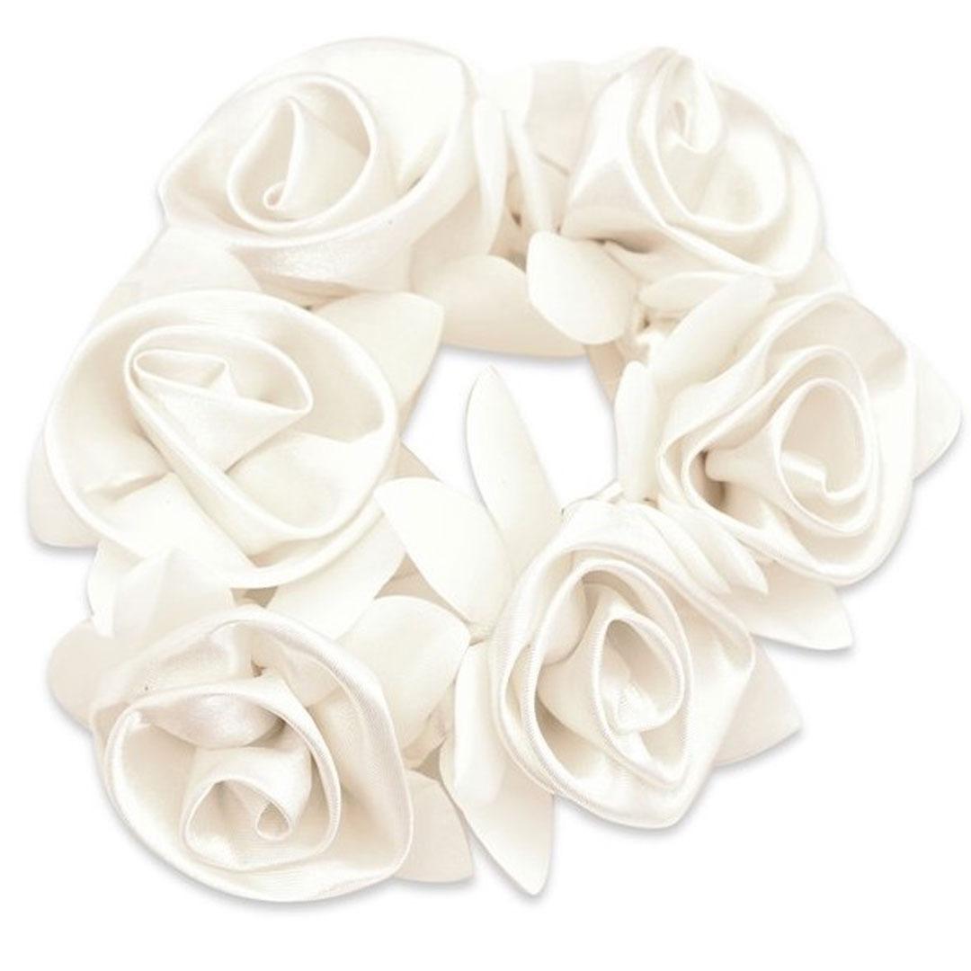 Design Rose Scrunchie White 1