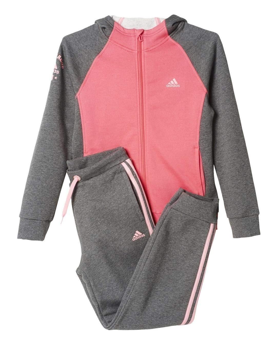 Adidas Traning Cotone Rosa-Grigio Bambina