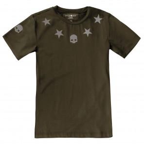 Hydrogen Reflex Tech Star T-Shirt Verde Uomo