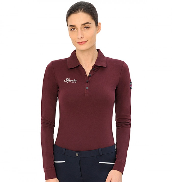 Spooks Emmi Polo Longsleeve Bordeaux