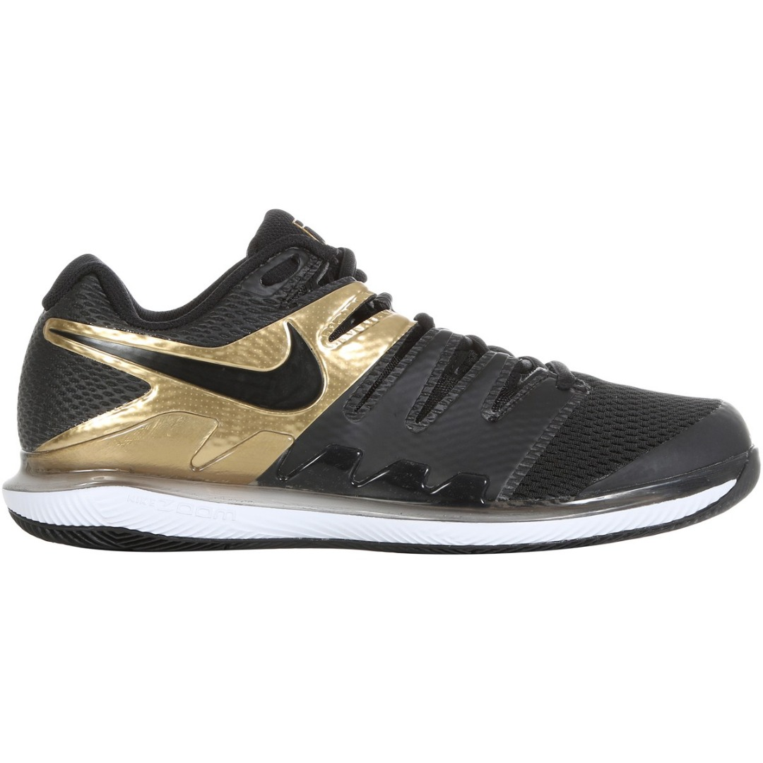 Nike Air Zoom Vapor X HC Nero Metallic Oro Uomo