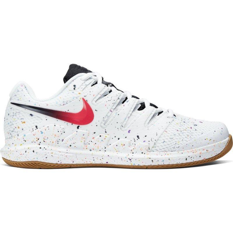Nike Air Zoom Vapor X HC Bianco-Rosso Laser Uomo