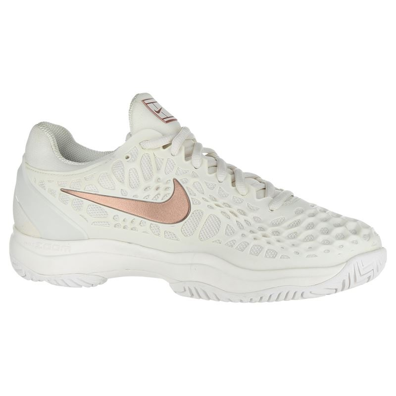 Nike Air Zoom Cage 3 HC Bianco-Bronzo Donna