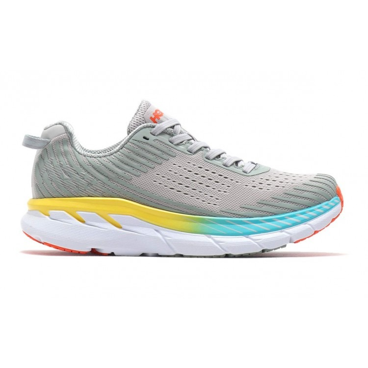 Hoka One W Clifton 5 Road Neutral Grigio Donna