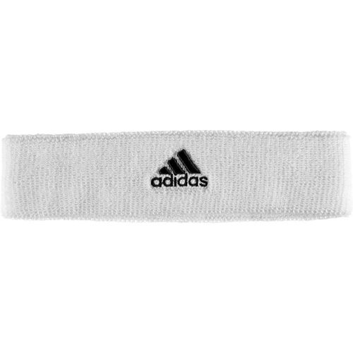 Adidas Tennis headband Bianco Logo nero 1