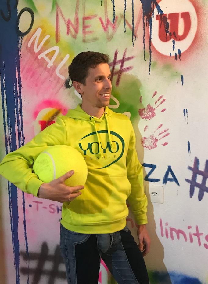 YOYO-TENNIS Hoody Lime-Verde Uomo