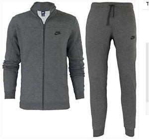Nike Fleece Tracksuit Set In Grigio Uomo 1