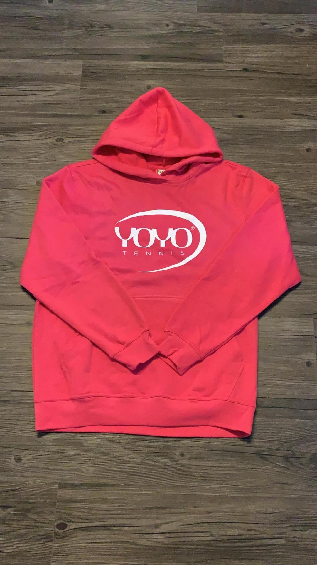 YOYO-TENNIS Hoody Pink con Logo Rosa