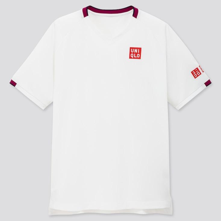 Uniqlo T-Shirt Dry Ex Federer Australia Bianco Uomo