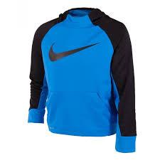 Nike Felpa Blu Logo Nero Bambino