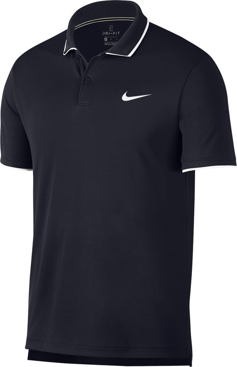 Nike Court Basic Team Polo Navy Uomo