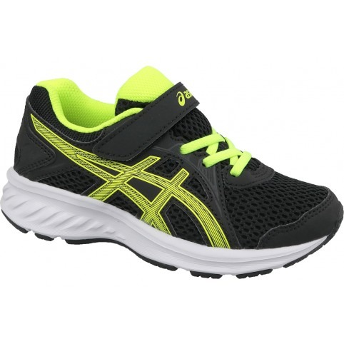 Asics Jolt 2 PS Black-Yellow Bambino