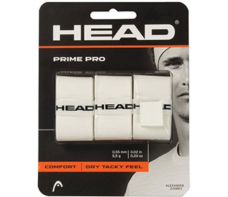Head Prime Pro Overgrip Bianco (3x)