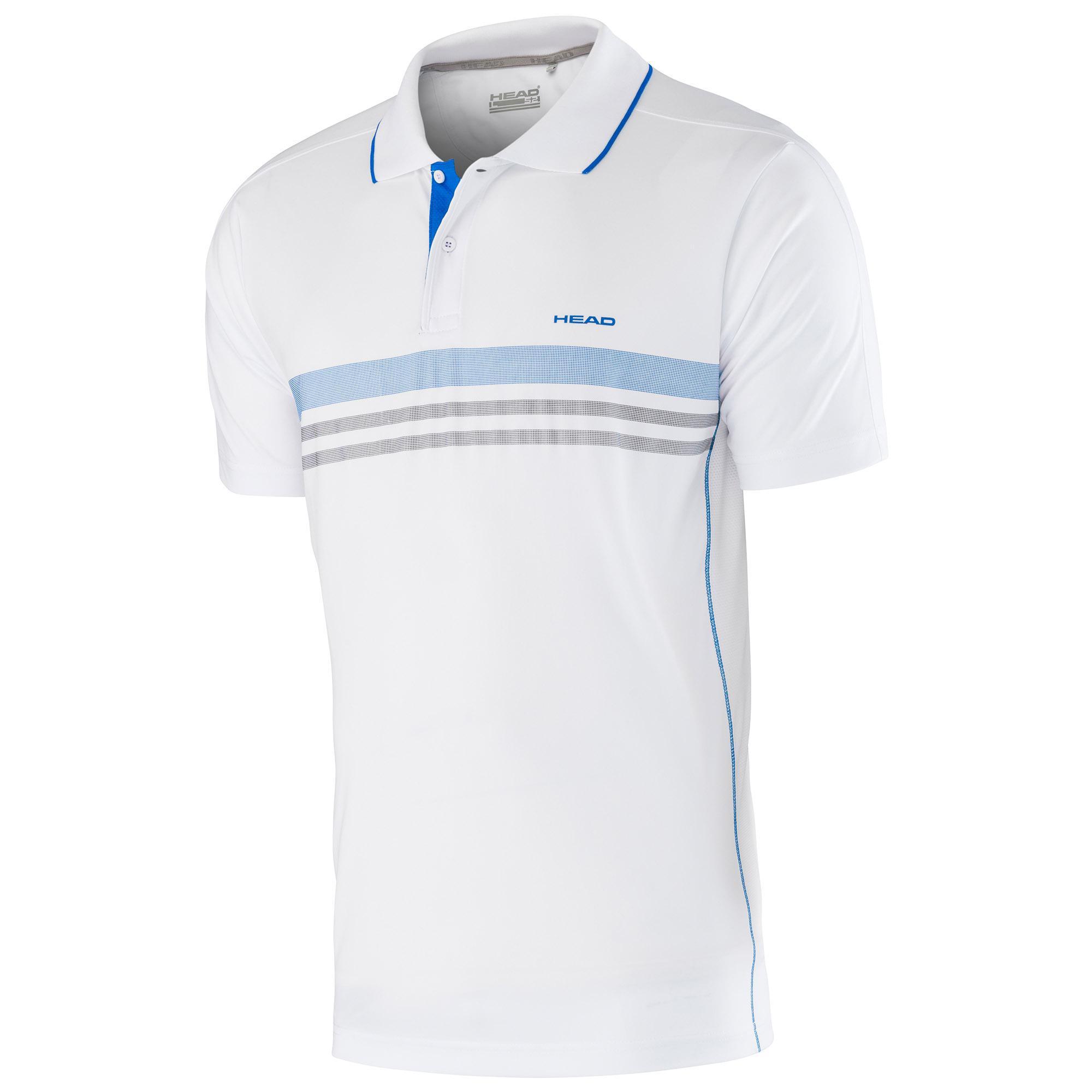 Head Club Polo Shirt Technica Bianco-Blu Bambino