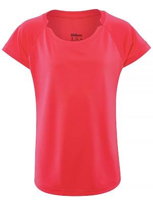 Wilson Cap Sleeve T-Shirt Pink Bambina 1