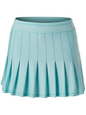 Lucky in Love Retro Pleated Skirt Azzurra Donna