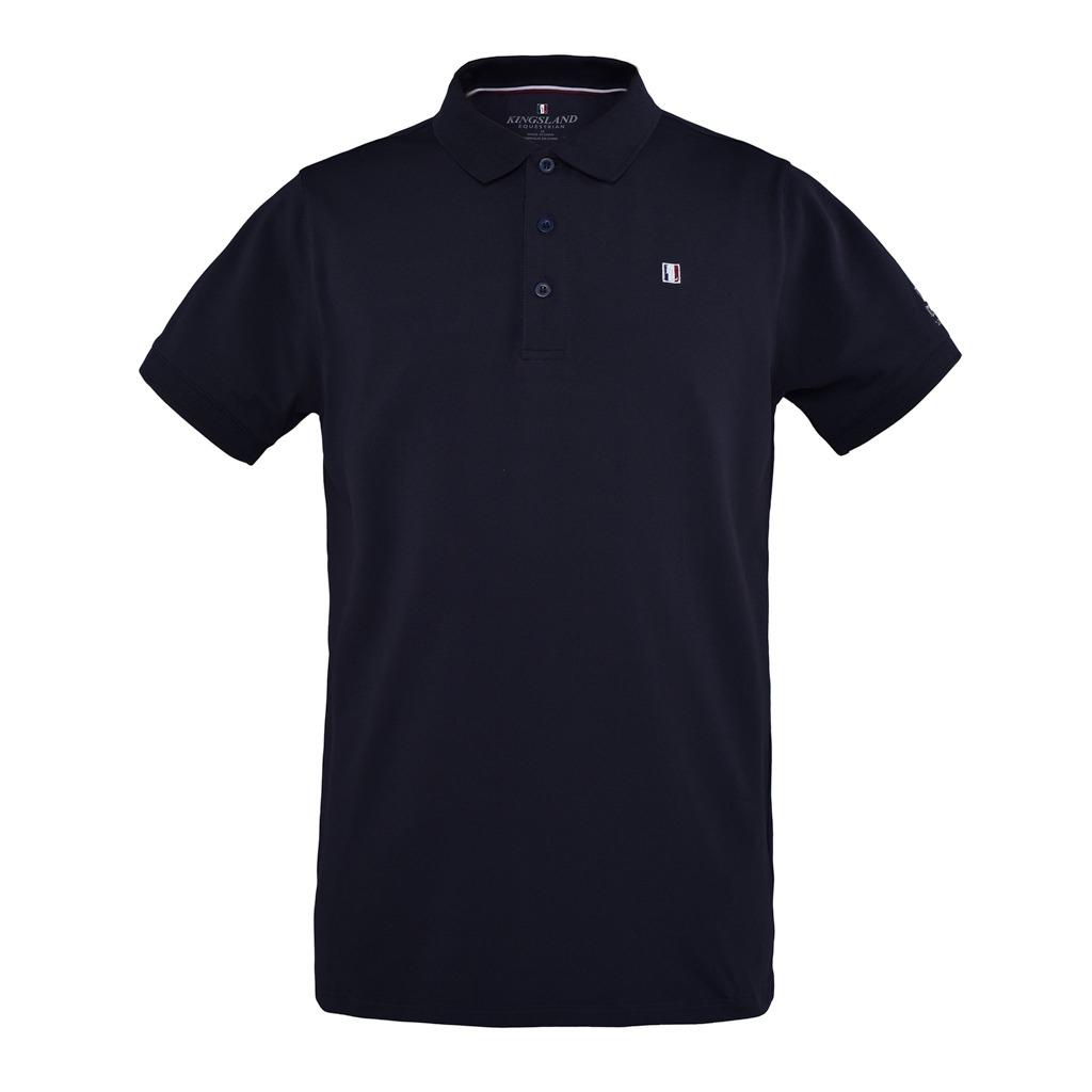 Kingsland Polo Pique Shirt Blu Uomo