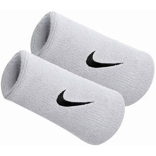 Nike Polsini Jumbo Bianco Logo Nero (2x)