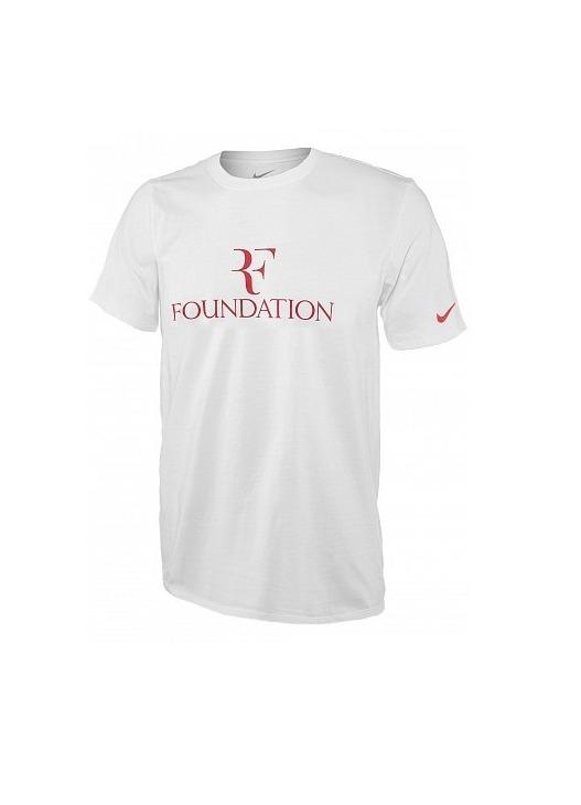 Nike Roger Federer T-Shirt Foundation Bianco Uomo