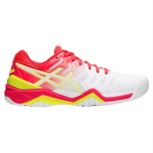 Asics Gel-Resolution 7 AC Bianco-Pink Donna