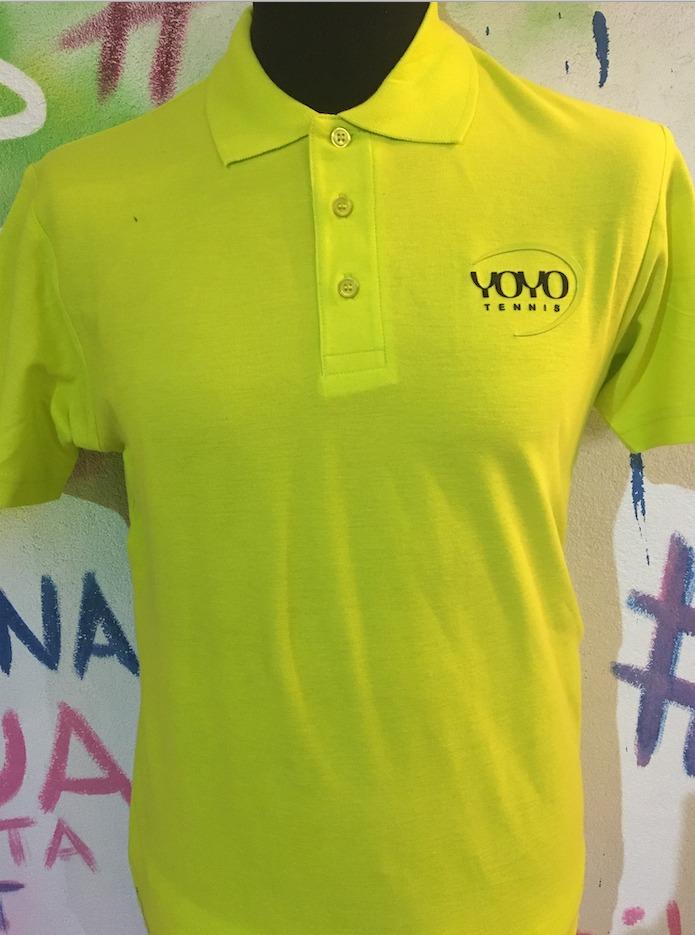 YOYO-TENNIS Polo Cotone Giallo Uomo