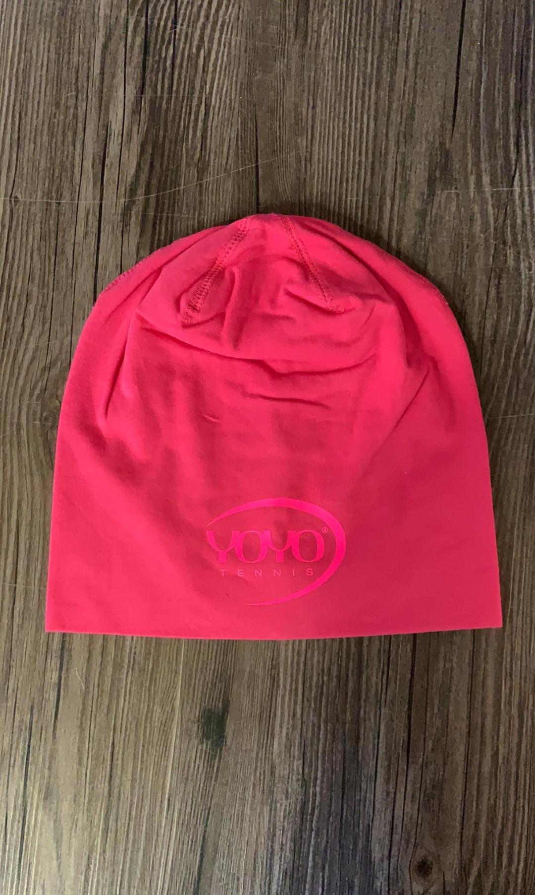 YOYO-TENNIS Cuffia Pink con Logo Rosa
