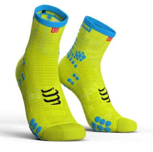 Compressport Pro Running Racing socks Giallo Fluo