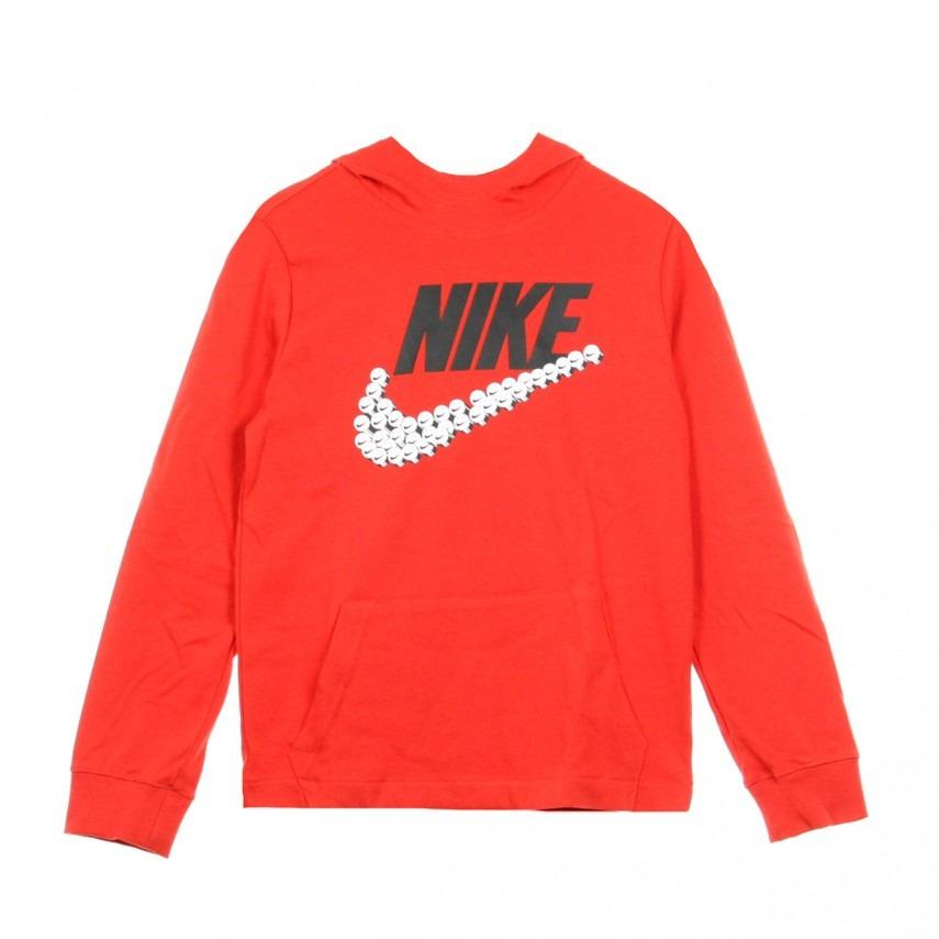Nike Sring Smiley Swoosh Hoodie Red Bambino