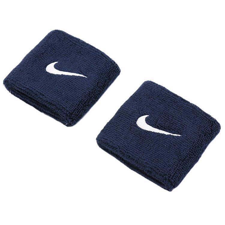 Nike Polsini Blu Navy Logo Bianco (2x) 1