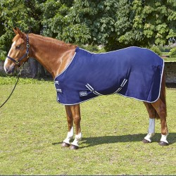 Horse Guard Fleece Rug Navy 1