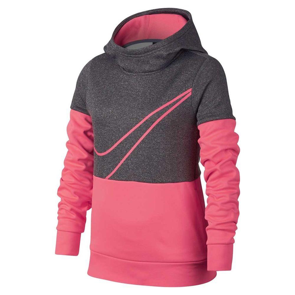 Nike Spring Therma GX Hoodie Grey-Pink Bambina 1