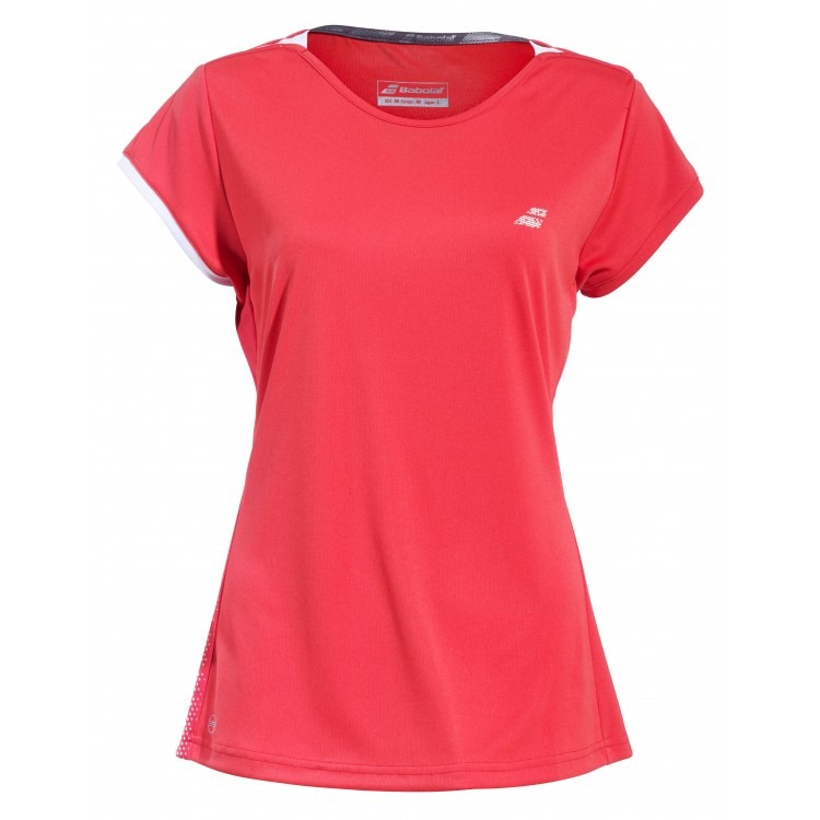 Babolat Perf Cap Sleeve Top Rosso Bambina