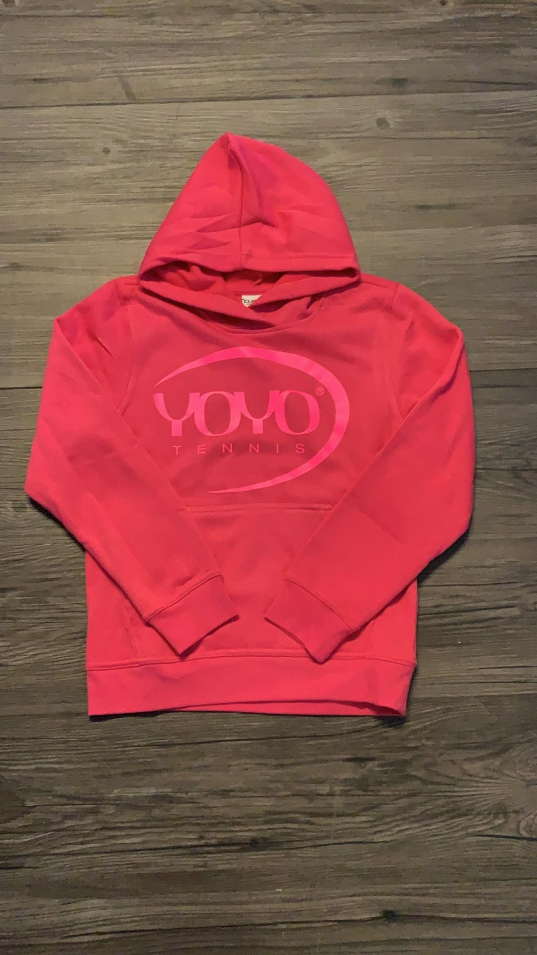 YOYO-TENNIS Hoody Pink con Logo Rosa Bambina