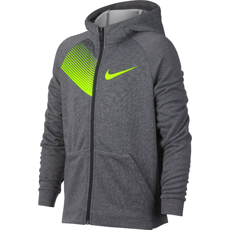 Nike  Spring Dry Fleece Hoody Grigio Bambino 1
