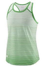Wilson Team Striped Tank Bianco verde Bambina 1