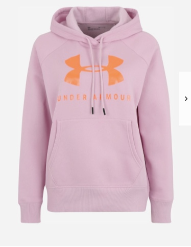 Under Armour Rival Fleece Sportstyle Hoodie Pink Donna