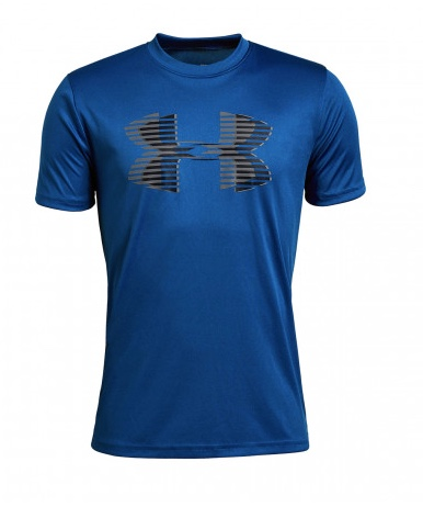Under Armour Tech Big Logo Solid Tee Royal Blue Bambino 1