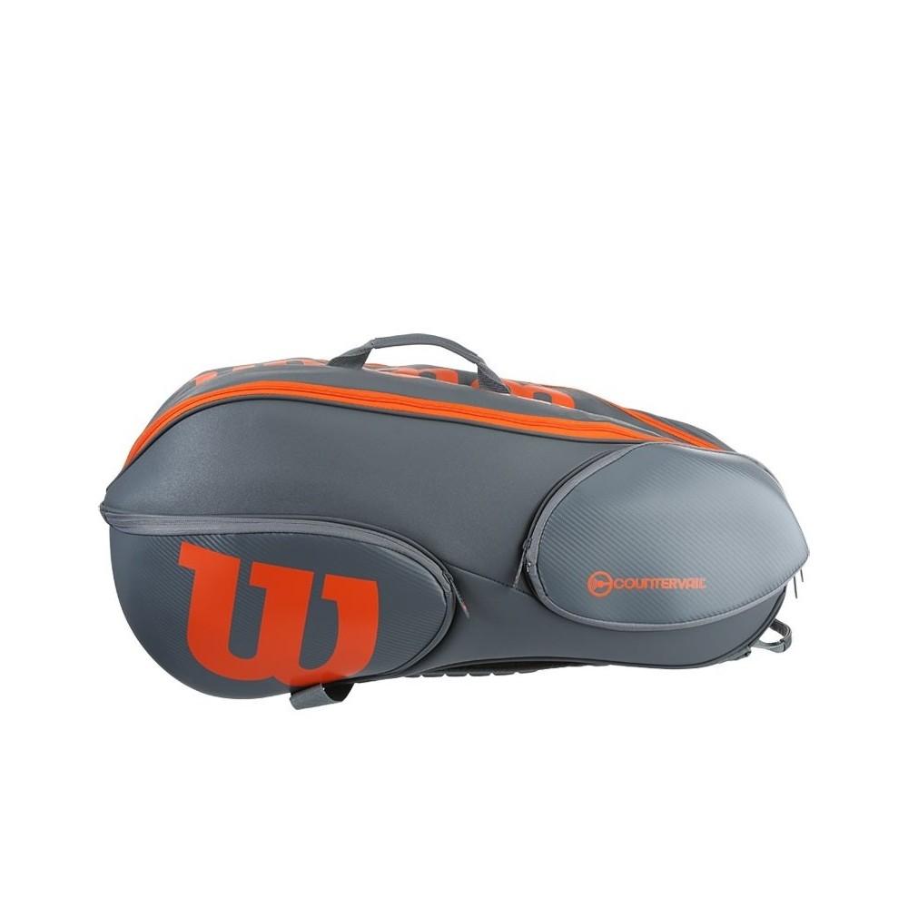Wilson Vancouver Bag Grigio-Arancione 9x
