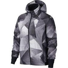 Nike Shield Printed Hooded Jacket Nero-Grigio Donna 1