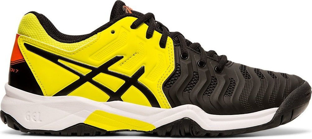 Asics Gel-Resolution 7 AC Nero-Giallo Junior