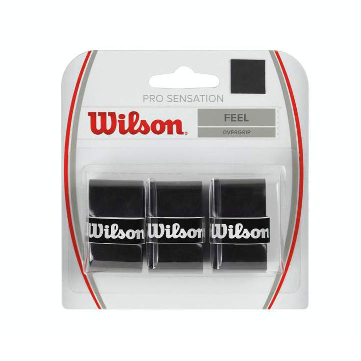 Wilson Pro Overgrip Sensation Nero (3x) 1