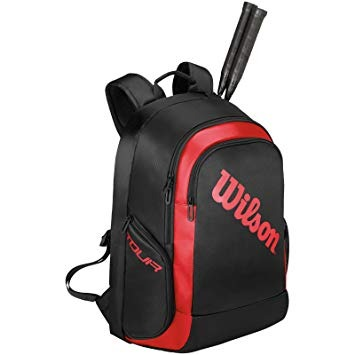 Wilson B backpack 2 Nero-Rosso 1