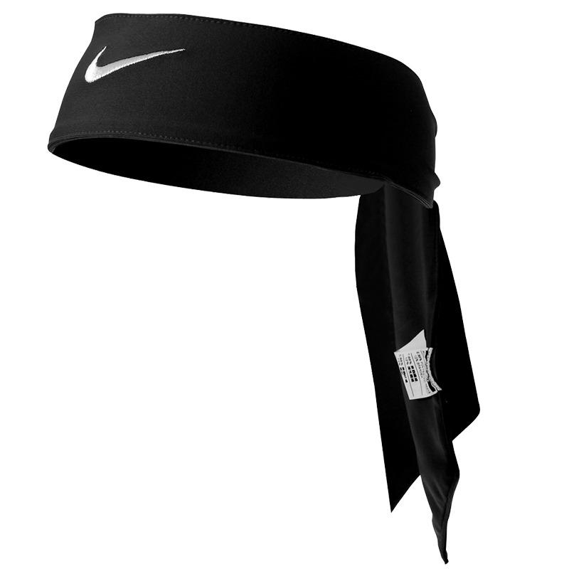 Nike Bandana Nera Logo Bianco 1