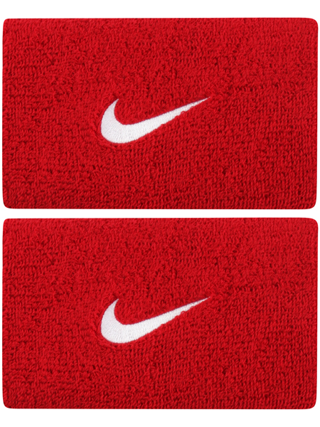 Nike Polsini Jumbo Rossi Logo Bianco (2x)