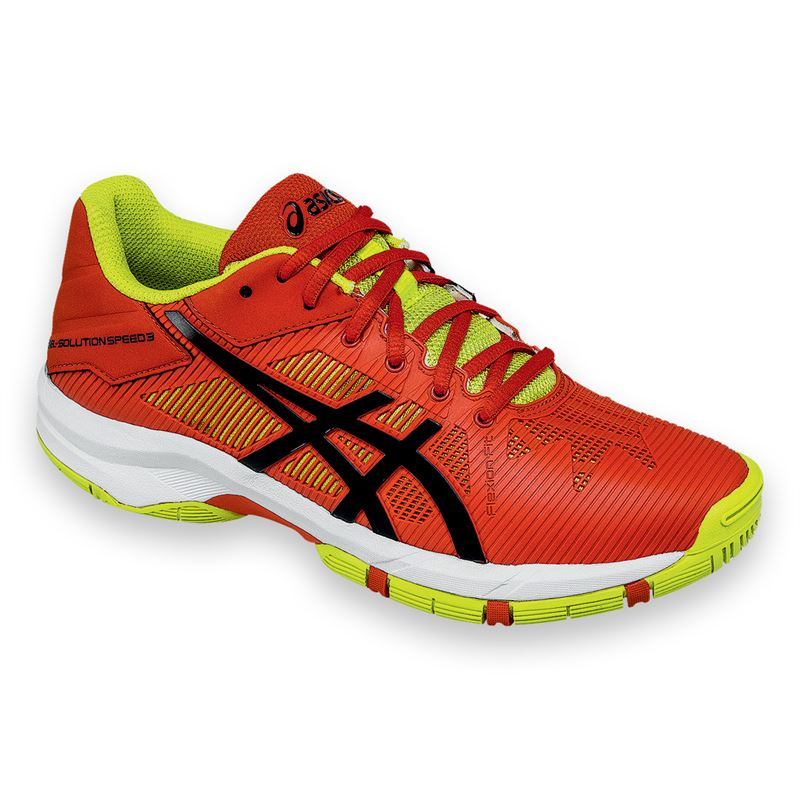 Asics Gel-Solution Speed 3 GS Arancione-Verde Junior