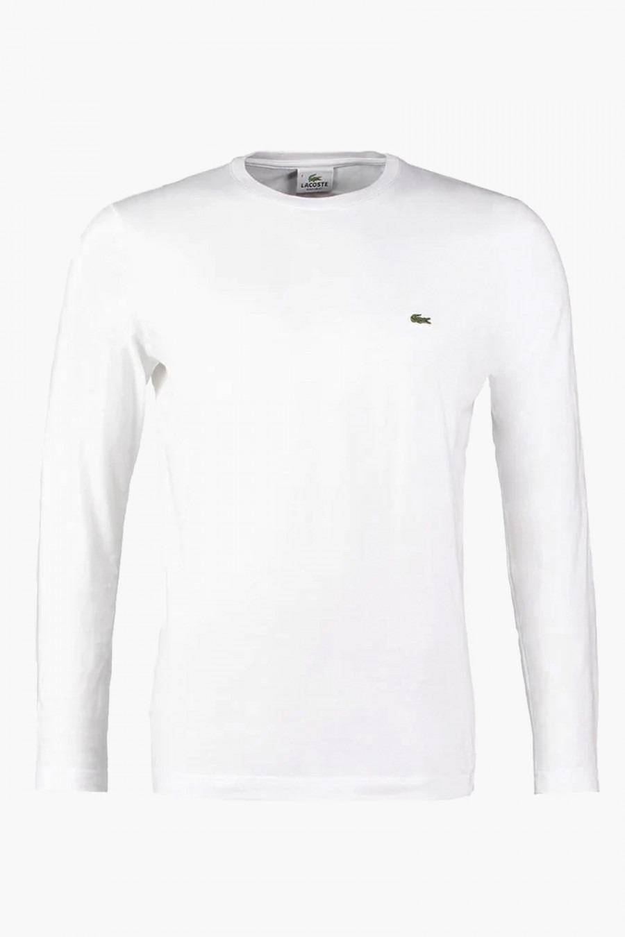 Lacoste T-Shirt Ras Bianca Uomo 1
